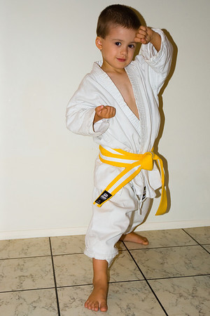 Declan gets his Yellow Belt