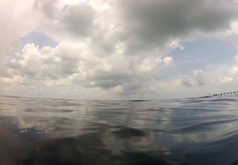 water and clouds