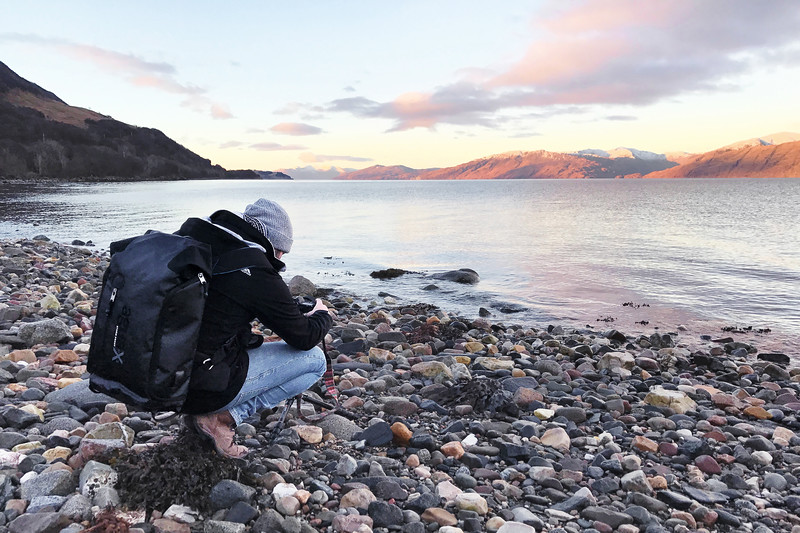 Photographing a Sunrise over Loch Linnhe at Dawn in Scotland