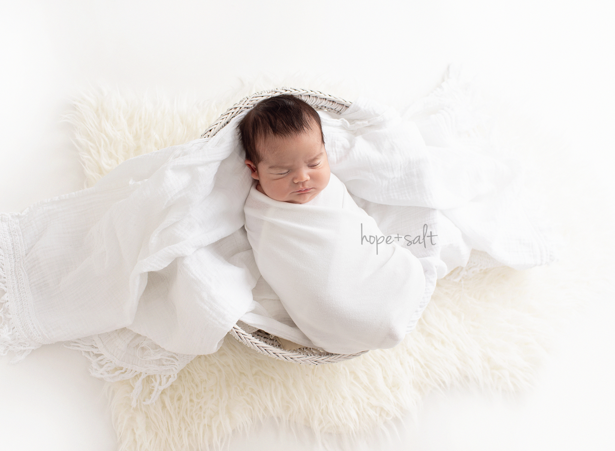 Hamilton Ontario - simple natural all whites and neutral fabrics newborn by studio photographer hope and salt- baby boy A