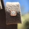 .52ctw Asscher Cut Diamond Bezel Stud Earrings, 18kt Rose Gold 11