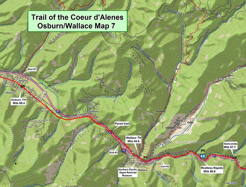 Trail of the Coeur d'Alene's State Park (Section #7)