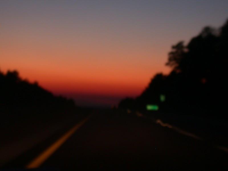 cool sunset, stupid lack of focus