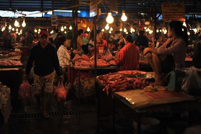 Wet market in Vientiane, Laos
