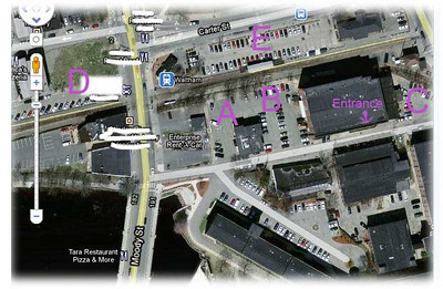 Directions and Alternative Parking for Jon's Place