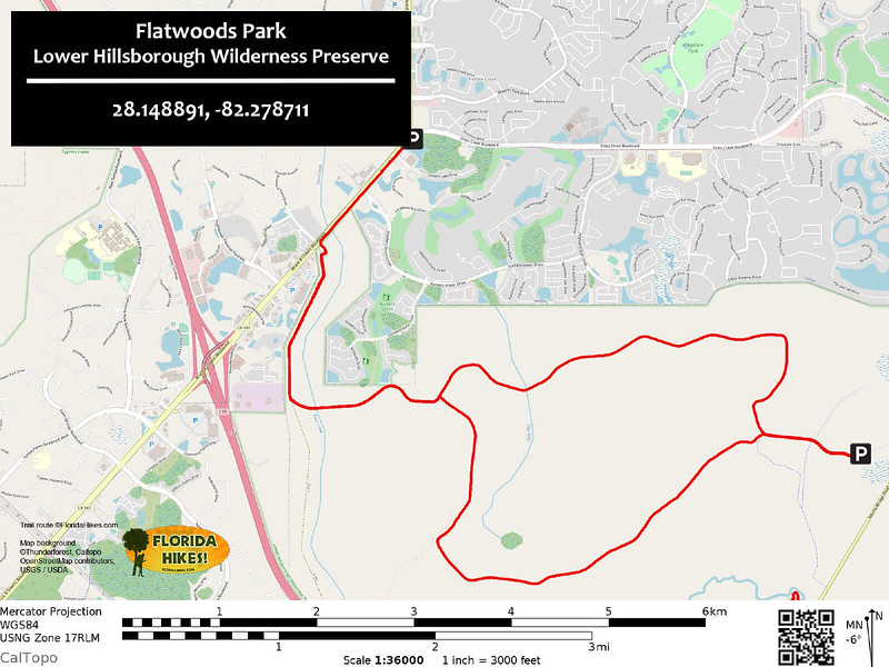 Flatwoods Park Trail Map