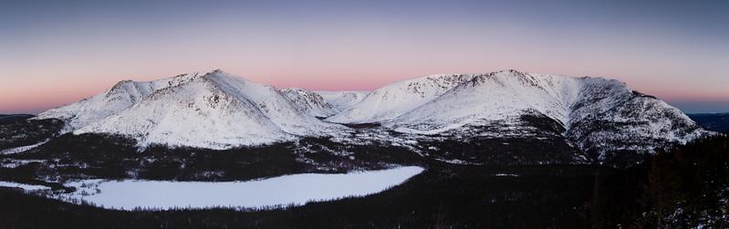 Mont Albert & lac du Diable en hiver