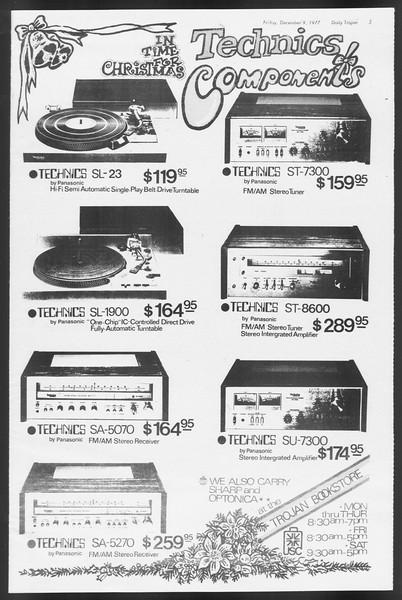 Daily Trojan, Vol. 72, No. 54, December 09, 1977