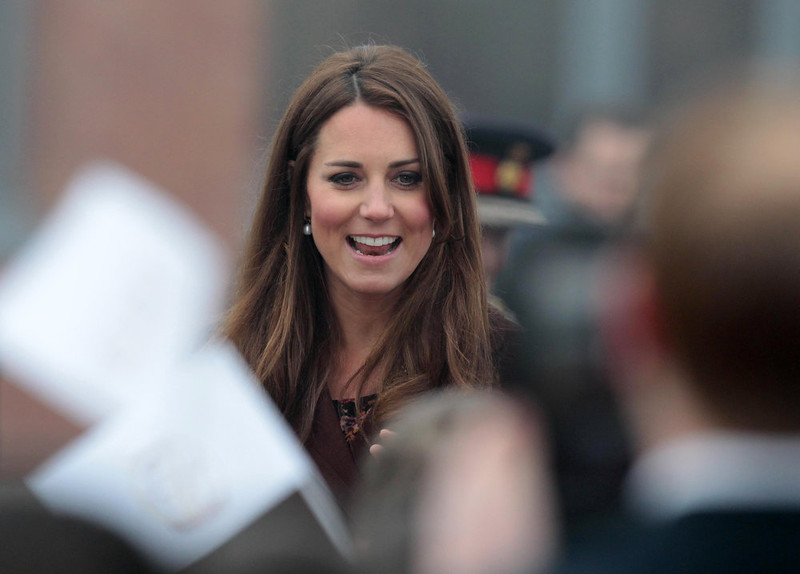 . Catherine, the Duchess of Cambridge looks on as she arrives at the Havelock Academy in Grimsby, north east England 5 March 2013. The Duchess of Cambridge is on an official visit to Grimsby during which she visited the National Fishing Heritage Centre and will meet with unemployed teenagers.   LINDSEY PARNABY/AFP/Getty Images