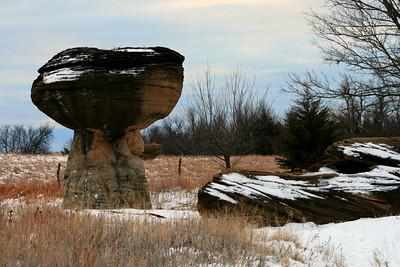 Mushroom Rock State Park, Kansas. Jan 1st 2012.