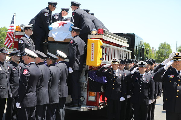 Chicago Fire Department  Funeral For FF/EMT Juan Bucio