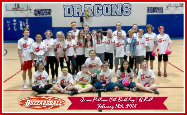 FEBRUARY 18TH, 2018 | Quinn Pulliam 13th Birthday -- Dodgeball Party