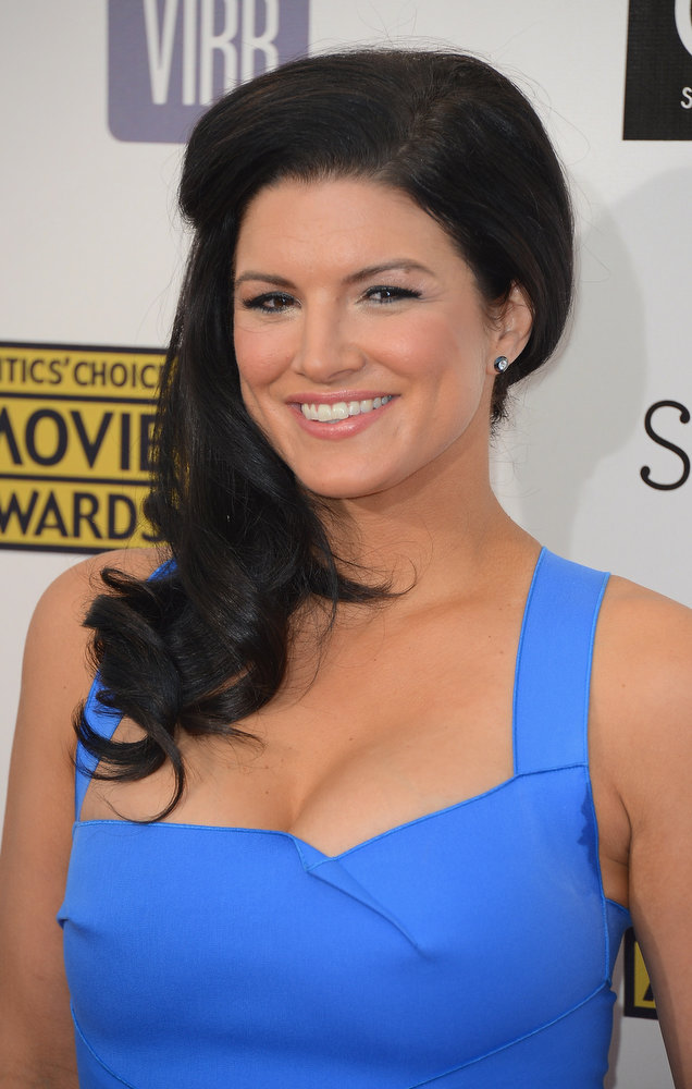 . Actress Gina Carano arrives at the 18th Annual Critics\' Choice Movie Awards at Barker Hangar on January 10, 2013 in Santa Monica, California.  (Photo by Frazer Harrison/Getty Images)