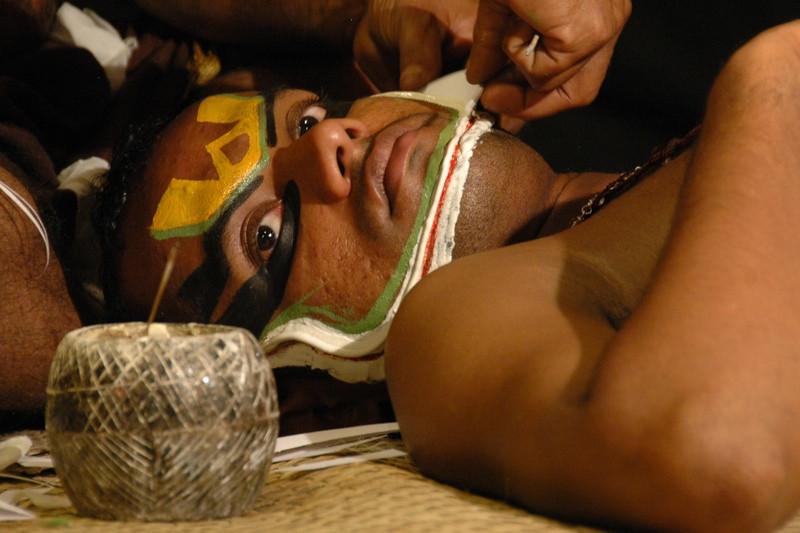 Kathakali Make-Up Session - Kerala, India