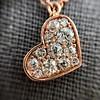.65ctw Rose Gold Askew Heart Mosaic Pendant 11
