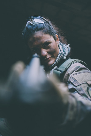 Michela - Airsoft Photoshoot 25.03.18