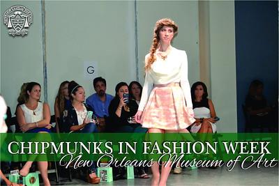 Chipmunks in New Orleans Fashion Week