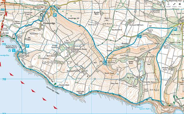 A 9.1 mile SDR walk from Houns Tout Carpark, Kingston, Dorset on 25 October 2015