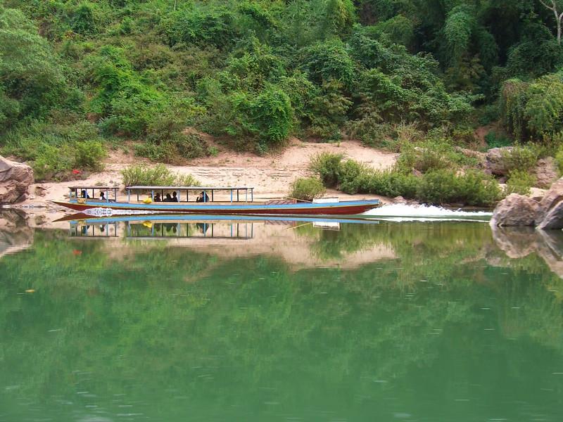 Long Tail Boat Along the Nam Ou River - Luang Prabang, Laos