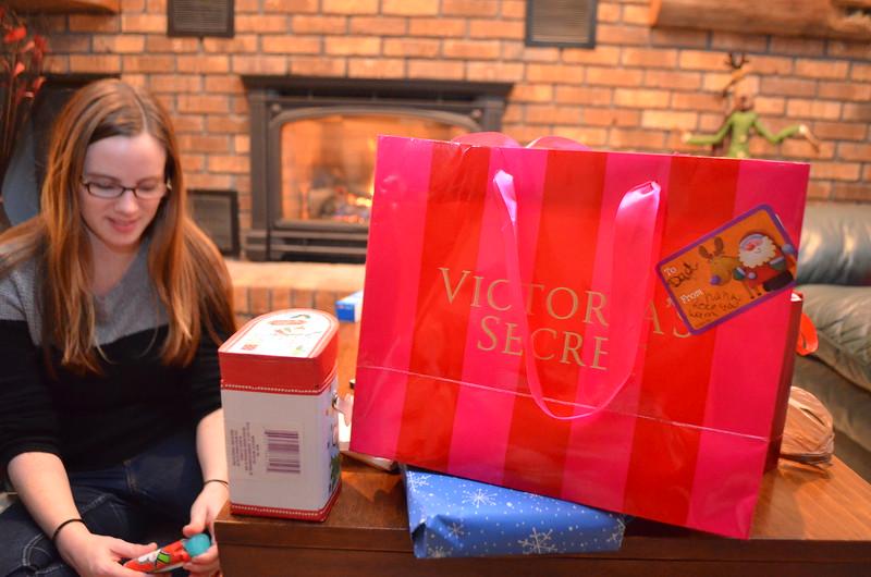 Ed got a Victoria Secret present.