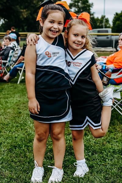 LL Football-Cheer Sept 24 White vs Orange