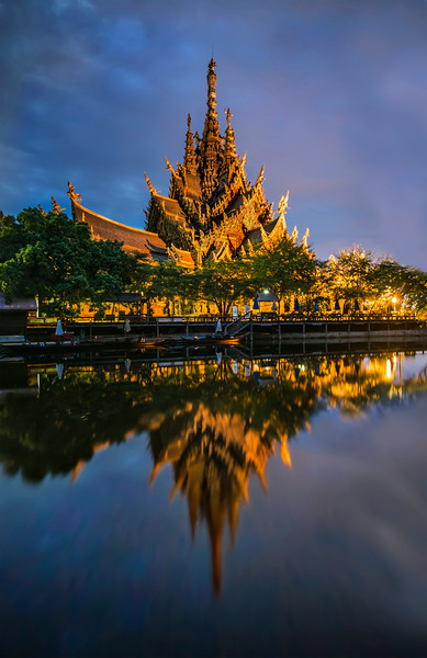 The Sanctuary of Truth at Night