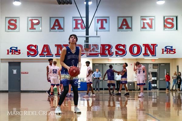 Broughton boys varsity basketball vs Sanderson. February 12, 2019. 750_6308