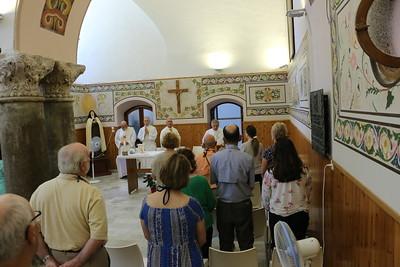 2018-06-21 Holy Land Day 03, left Netanya to Caeserea, to Haifa, Mt Carmel, Cana