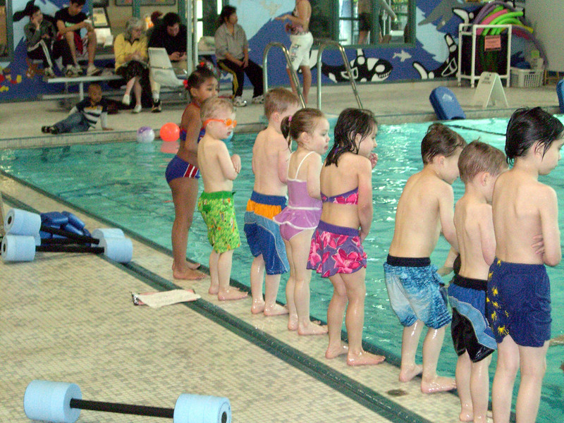 End of class. Swim lessons - week 2