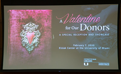 A Valentine for Our Donors: A Special Reception and Showcase - February 7, 2020