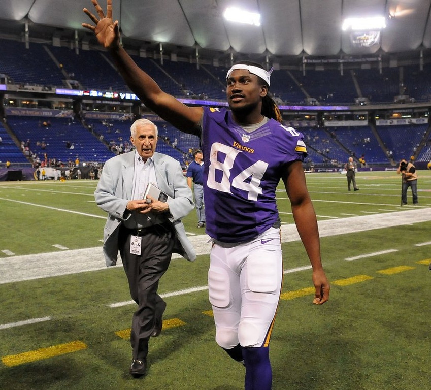 """. <p><b> Vikings rookie Cordarrelle Patterson learned, after only one exhibition game in Minnesota, that he � </b> <p> A. Could be a potent weapon returning kicks  <p> B. Will be a prominent part of the Minnesota offense  <p> C. Cannot outrun a 93-year-old sports writer <p>   (Pioneer Press: Sherri LaRose-Chiglo) <p><b><a href=\'http://www.twincities.com/sports/ci_23834269/minnesota-vikings-cordarrelle-pattersons-first-play-yields-field\' target=\""""_blank\"""">HUH?</a></b>"""