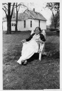 Aunt Molly  Mary E. Staley Hankee.  Grandma Dodrill's sister.  Married to Webster Boliver Hankee (Uncle Web).  They lived next door to Grandma and Grandpa Dodrill on Cicott Street.