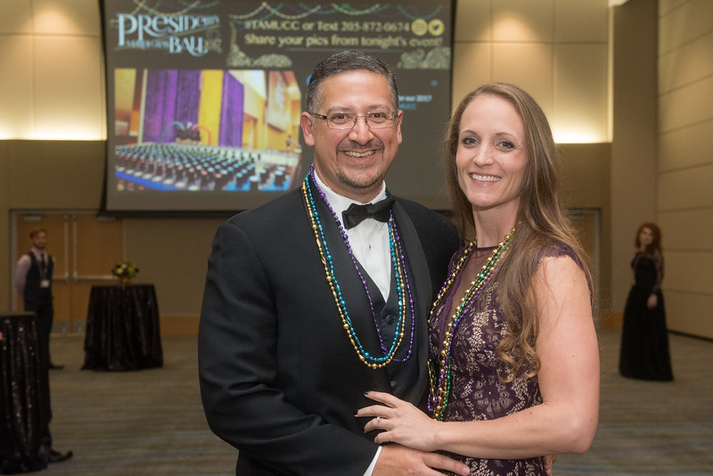 Gus Barrera and Jaime Nodarse. Saturday February 25, 2017 at TAMU-CC during the annual President's Mardi Gras Ball.