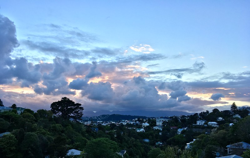 Pretty epic clouds over the Mt Vic side