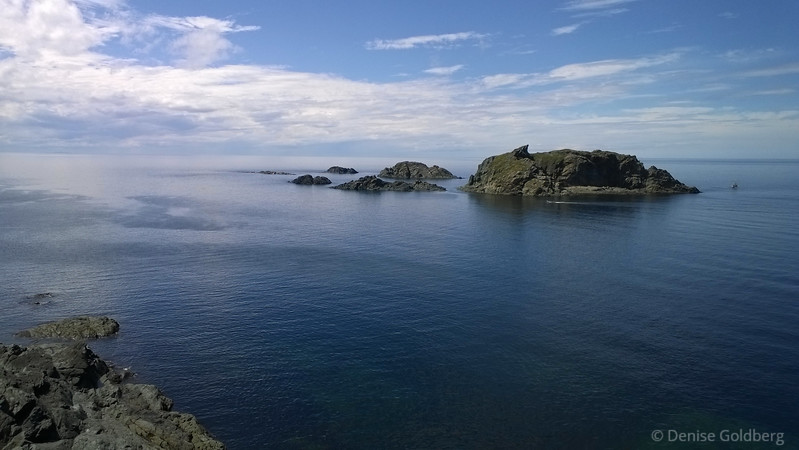 repeating blue, off the shore of Twillingate