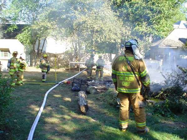 Shed Fire - 2005