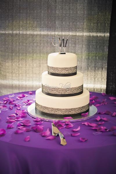 Cake Cutting - Amber and Brian