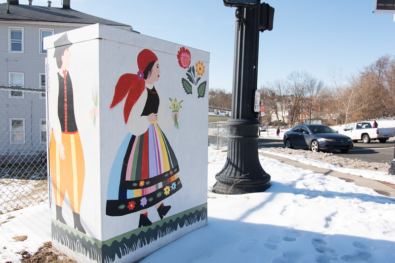 02/13/19  Wesley Bunnell | Staff  An electrical box which is part of many painted throughout the city sits on a corner in Little Poland.
