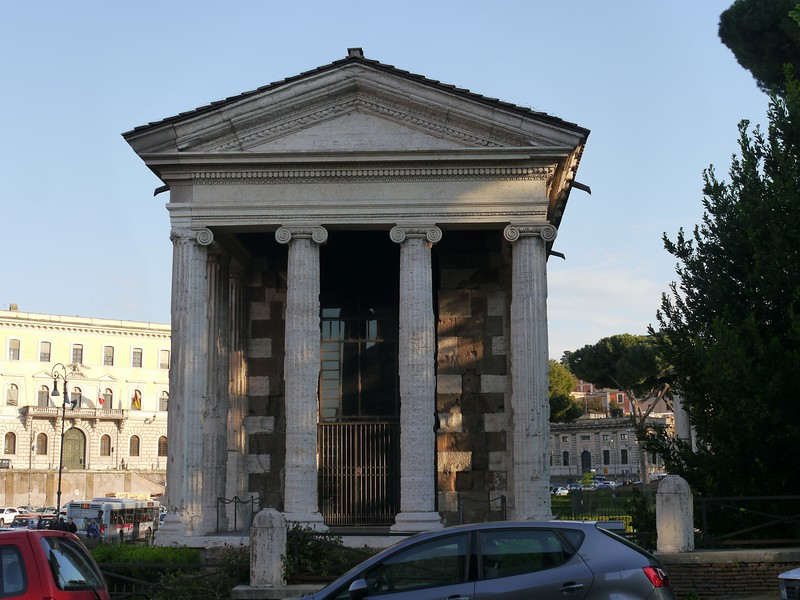 The Temple of Portunus (god of ports, doors, livestock and grain houses). Subject of my dissertation.