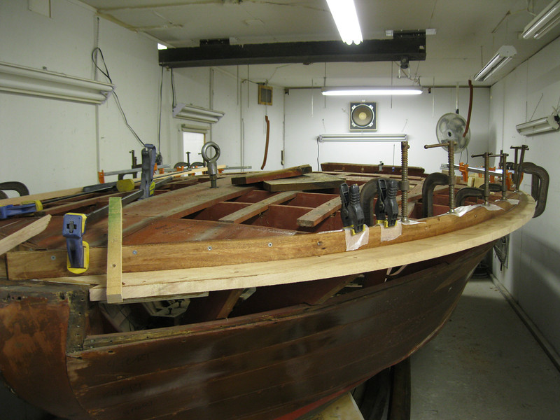 New outside port bow deck framing installed.