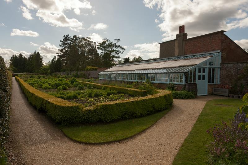 Darwin's kitchen garden and greenhouse