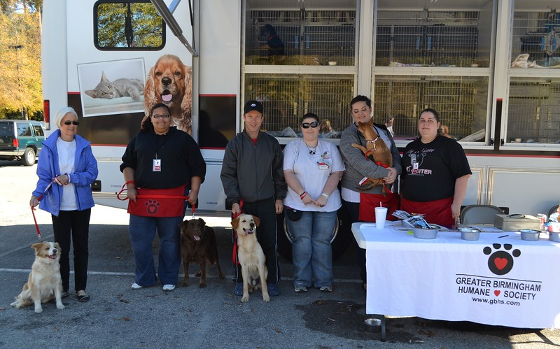 Greater Birmingham Humane Society volunteers with some potential adoptees.jpg