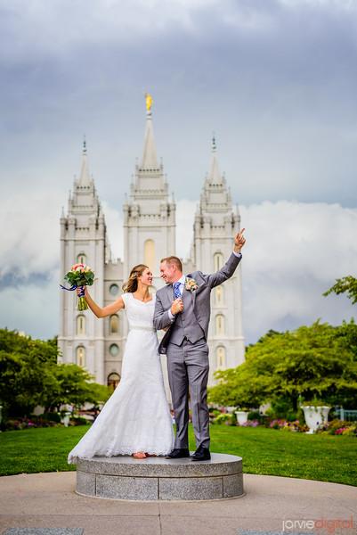 SLC Temple Wedding