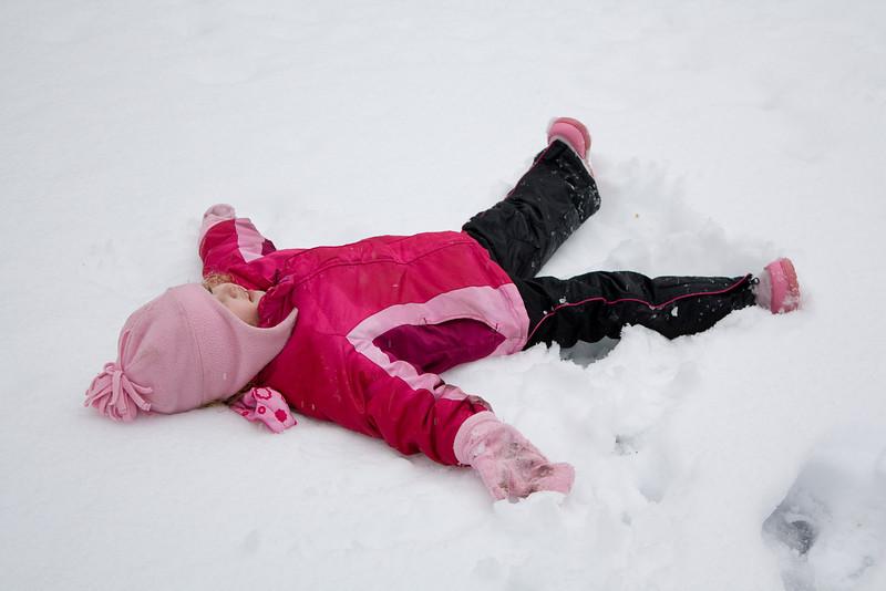 Snow angel time!