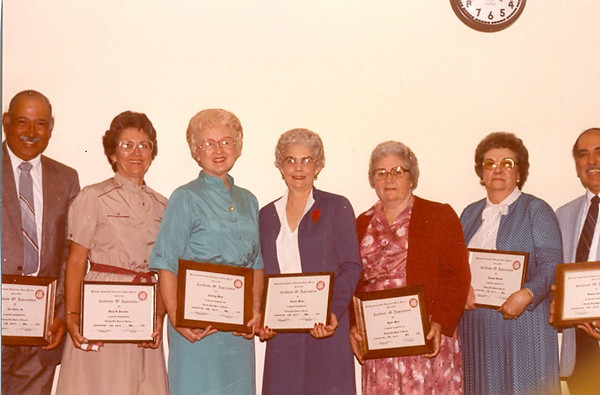 Service Awards- Retirees 1982-83
