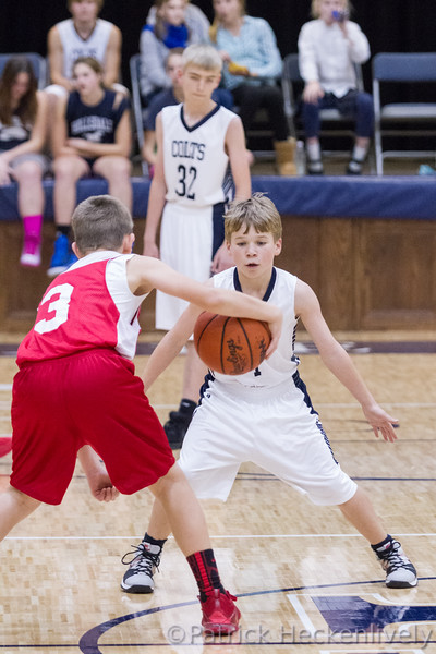 2015-12-09 Hillsdale Academy Junior High Boy's Basketball vs. Camden-Frontier