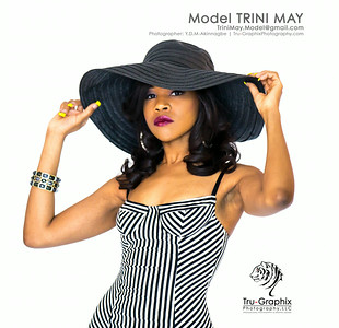Model: Trini May - Elegant Stripes