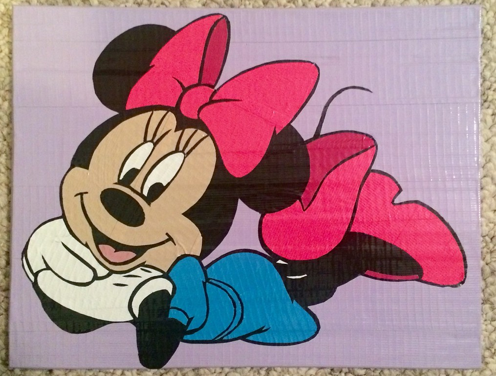 . Artwork by Jani Reddick <br> Minnie Mouse poses in this artwork.