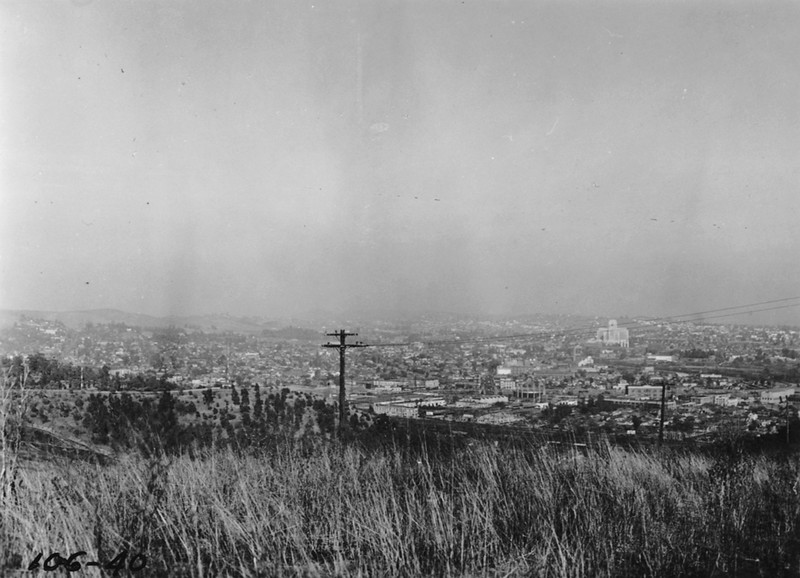 1937, View from Chavez Ravine