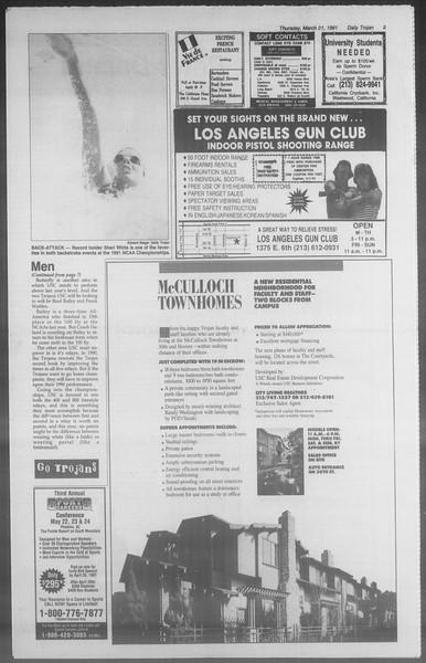 Daily Trojan, Vol. 114, No. 48, March 21, 1991